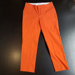 Crown & Ivy size 6 bright orange dress capris